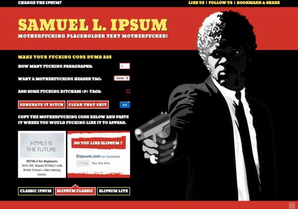 Samuel Jackson Ipsum
