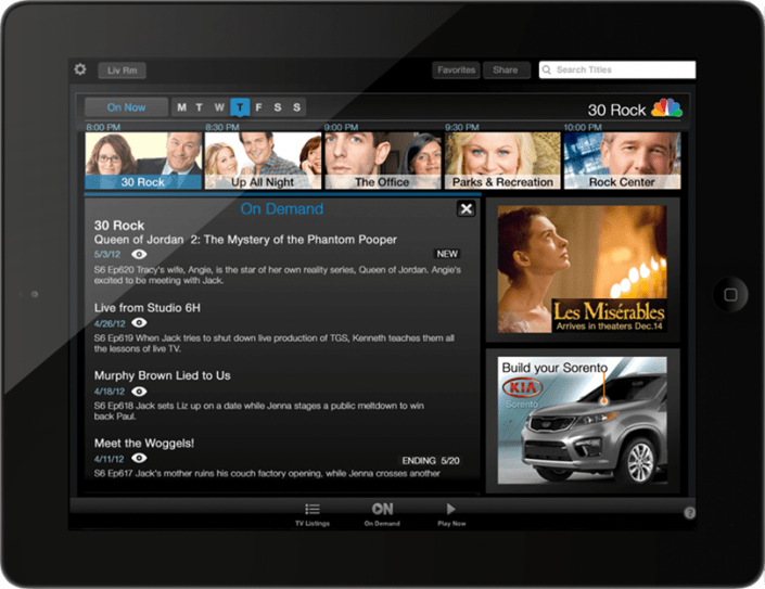Tablets and TV - A second screen application