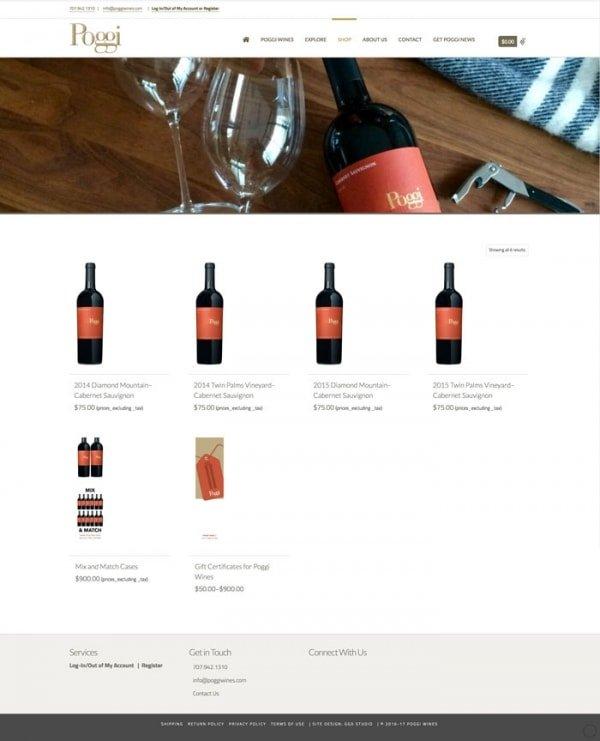 Poggi Wine Shop/ Woo Commerce