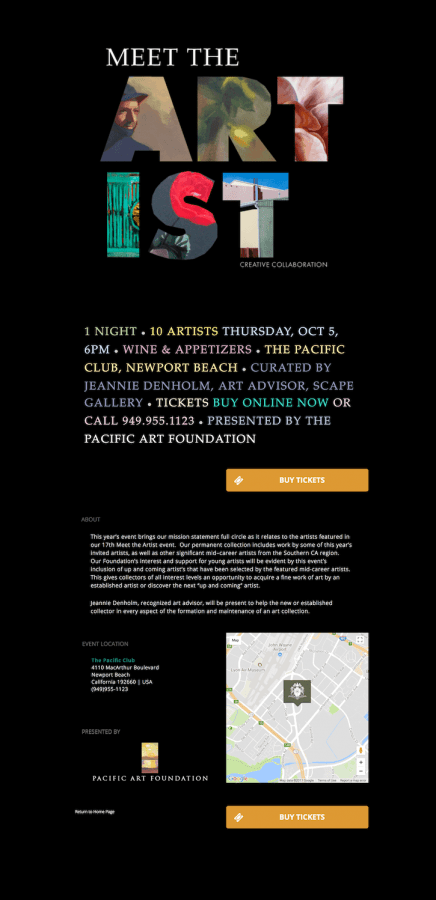Meet the Artist Event, Pacific Art Foundation