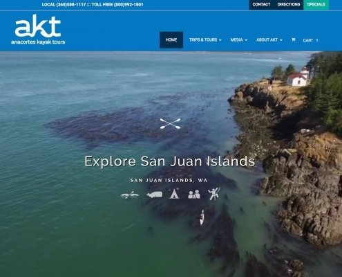Anacortes Kayak Tours / WP Design & Dev