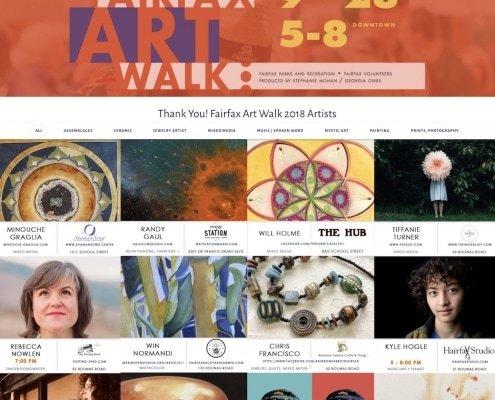 Fairfax Art Walk Home page