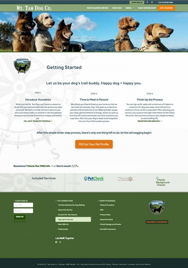 Mt. Tam Dog Co / WP Design & Dev