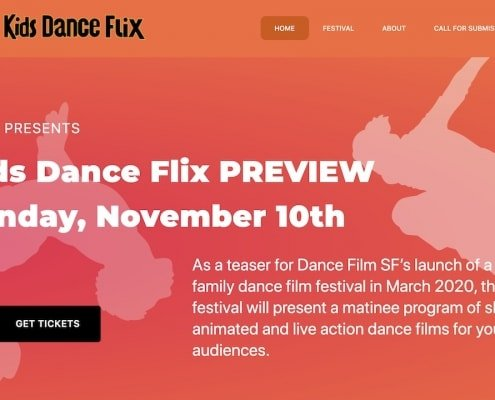 Kids Dance Flix, SF / WP Design & Dev